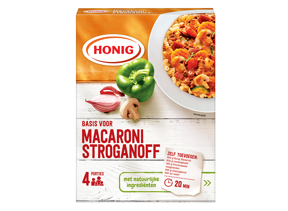Macaronisaus Stroganoff