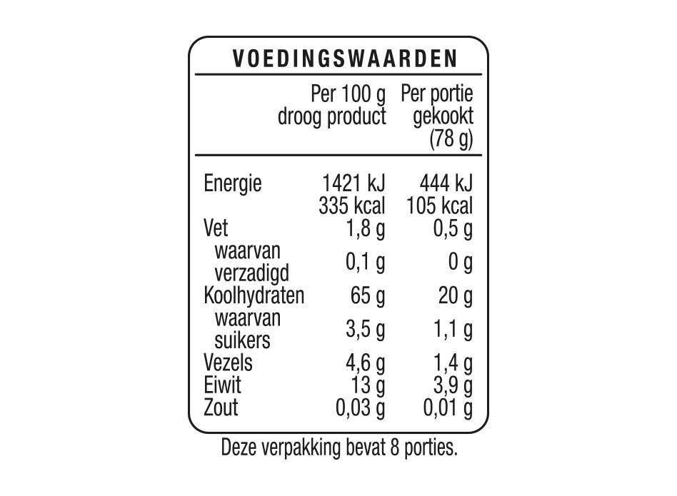 Lasagnebladen Half Volkoren