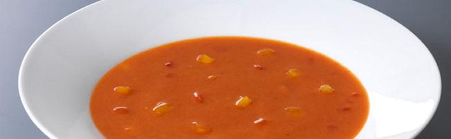Gegrile rode paprikasoep (soep special)