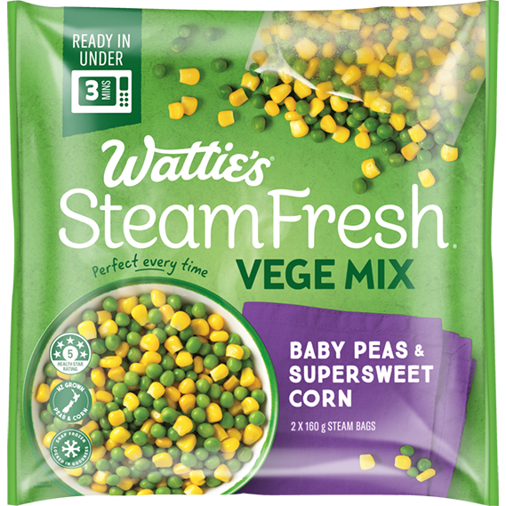 SteamFresh® Baby Peas and Supersweet Corn