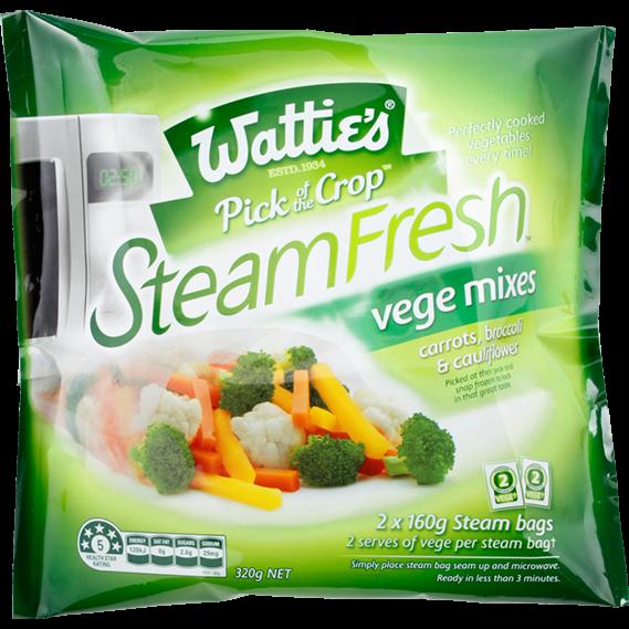 SteamFresh® Carrots, Broccoli and Cauliflower