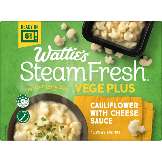 SteamFresh® Cauliflower with Cheese Sauce