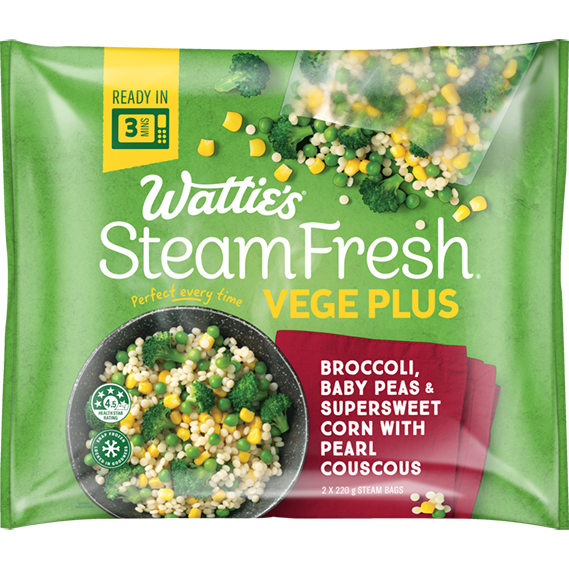 SteamFresh® Broccoli, Baby Peas and Supersweet Corn with Pearl Couscous