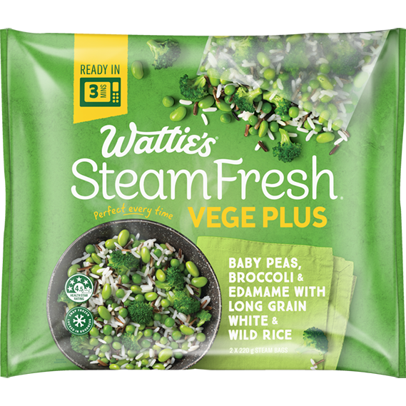 SteamFresh® Baby Peas, Broccoli and Edamame with Long Grain White and Wild Rice