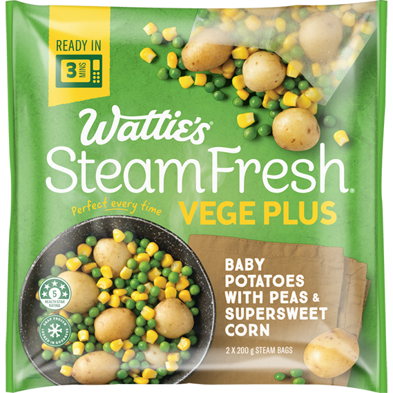 SteamFresh® Potatoes with Peas and Corn