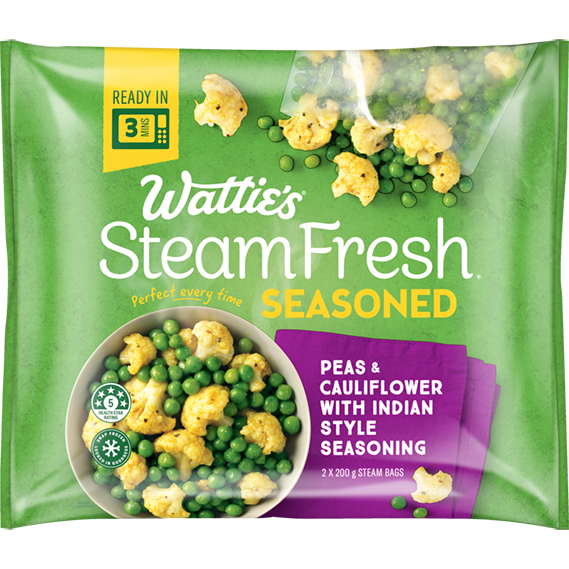 SteamFresh® Cauliflower and Peas with Indian Style Seasoning