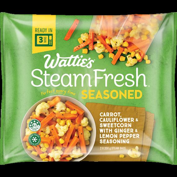 SteamFresh® Carrot, Cauliflower and Sweetcorn with Ginger and Lemon Pepper Seasoning