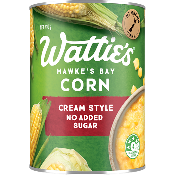 Cream Style Corn with No Added Sugar