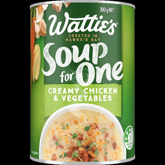 Creamy Chicken & Vegetables Soup
