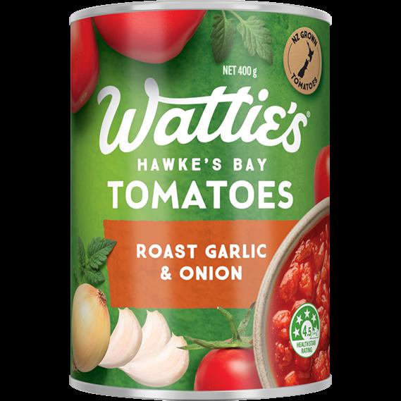 Roast Garlic & Onion Tomatoes