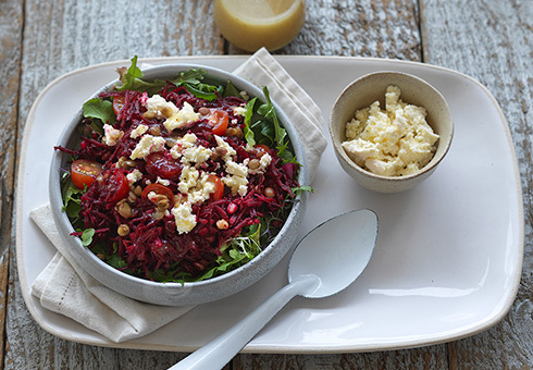 Raw Beetroot, Feta & Lentil Salad image