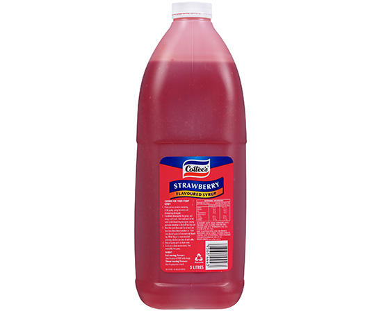 3L Cottee's Strawberry Flavoured Syrup