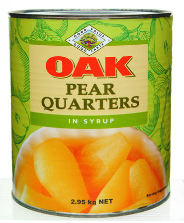 3kg Oak Pear Quarters in Syrup image