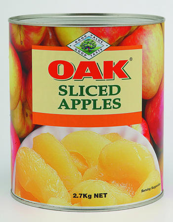 2.7kg Oak Sliced Apples image
