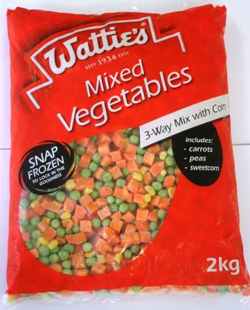 2kg Wattie's Mixed Vegetables 3-Way Mix With Corn image
