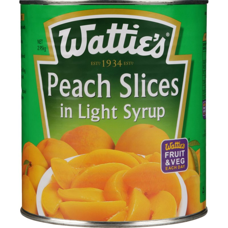 3kg Wattie's Peach Slices in Light Syrup