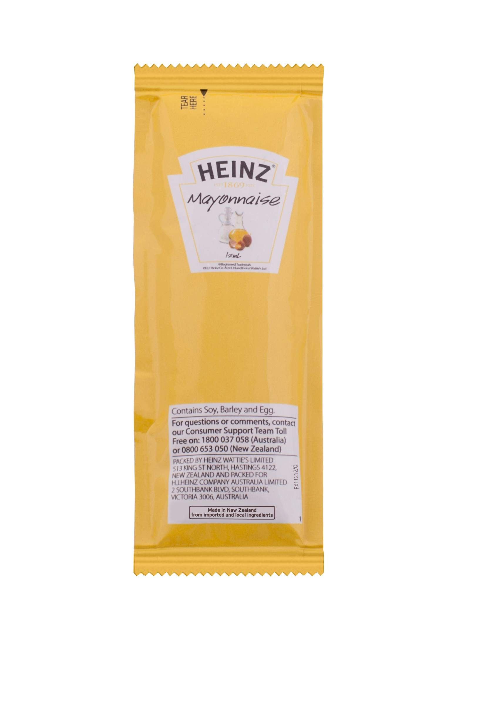 12mL Heinz Mayonnaise Sachet