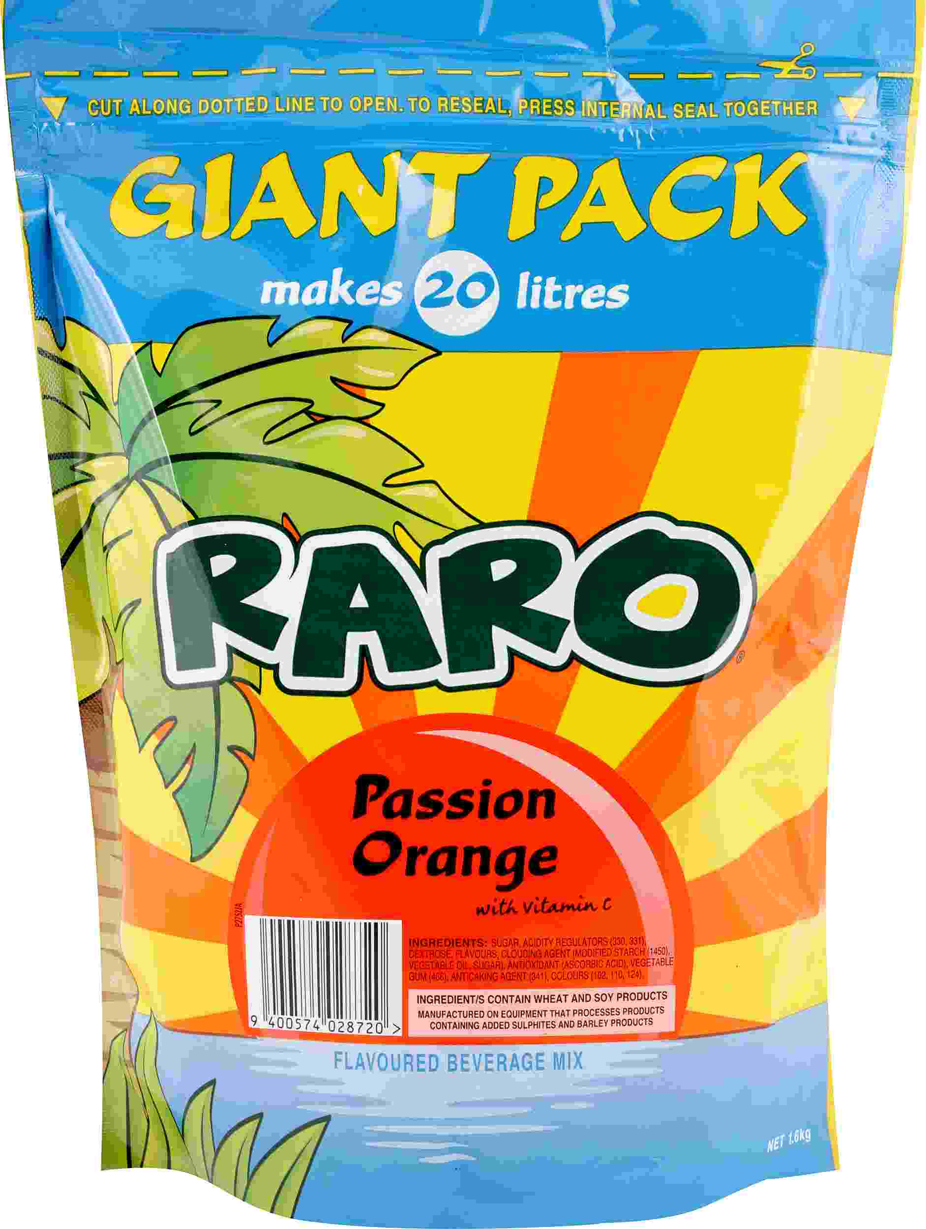 1.6kg Raro Passion Orange