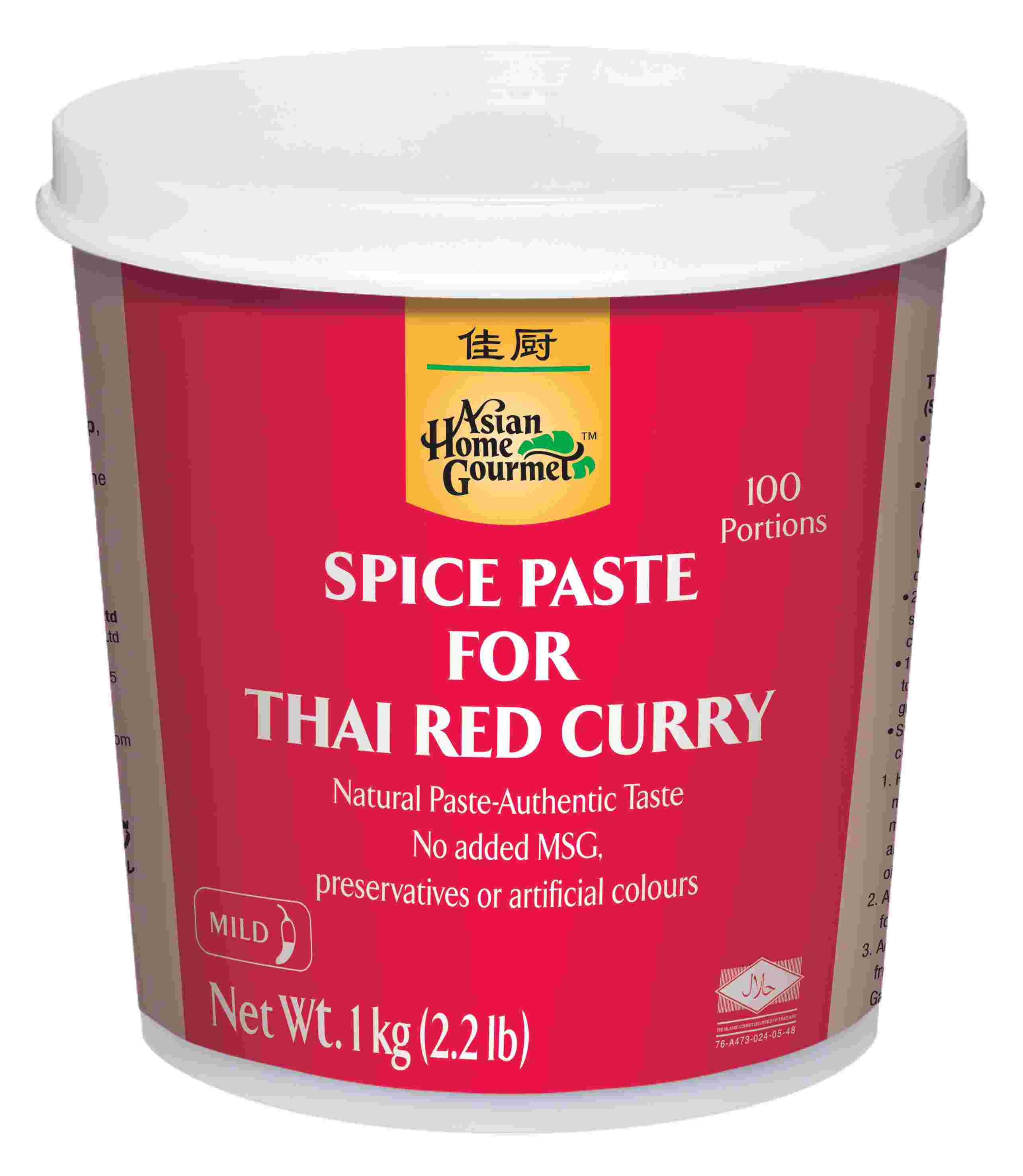 1kg Asian Home Gourmet Thai Red Curry Paste