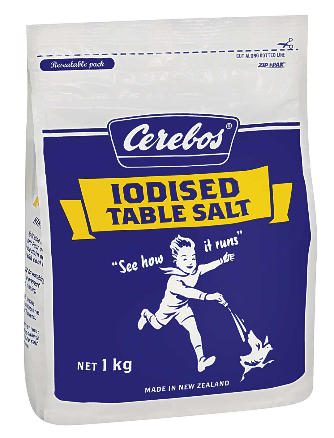 1kg Cerebos Iodised Table Salt
