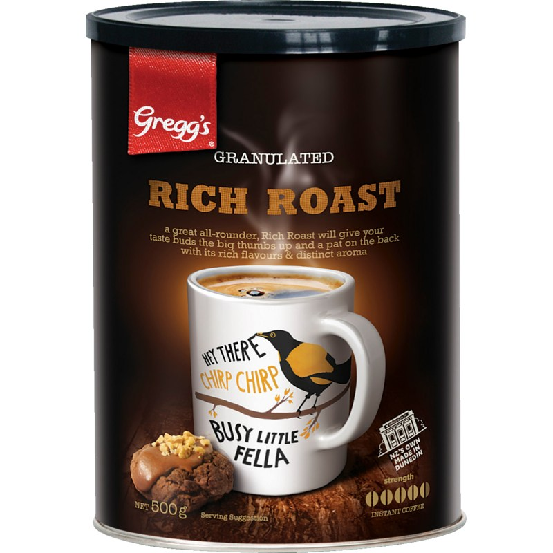 500g Gregg's Rich Roast Tin (Granules)