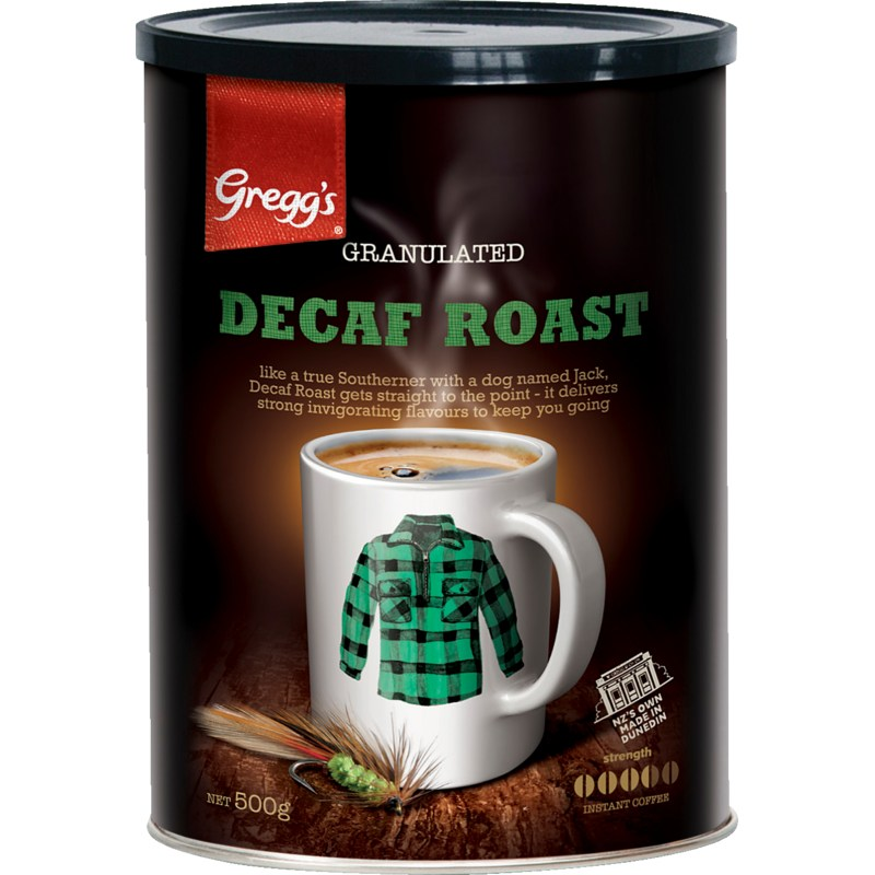 500g Gregg's Decaffeinated Tin (Granules)