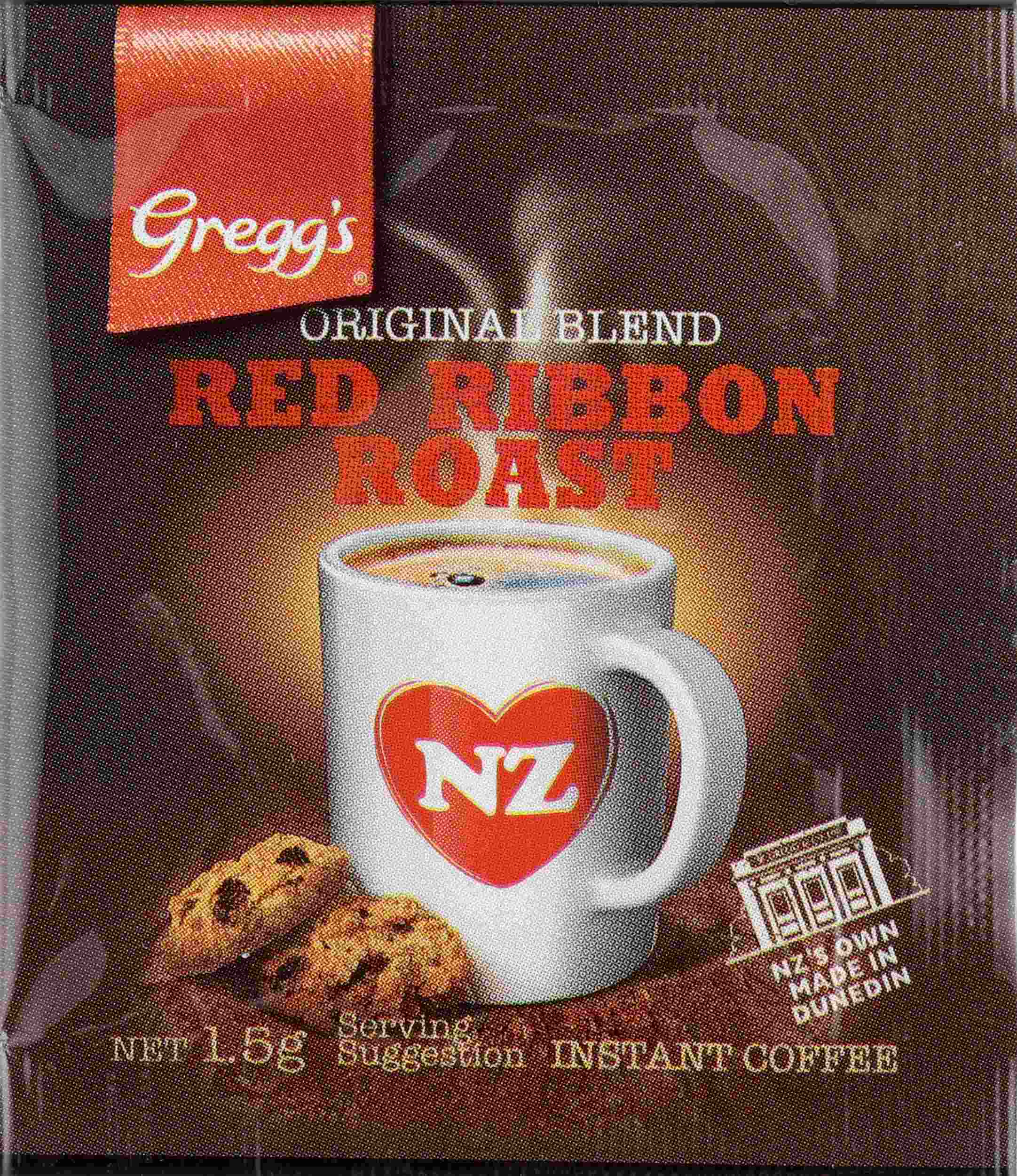 1.5g Gregg's Red Ribbon Roast Sachets