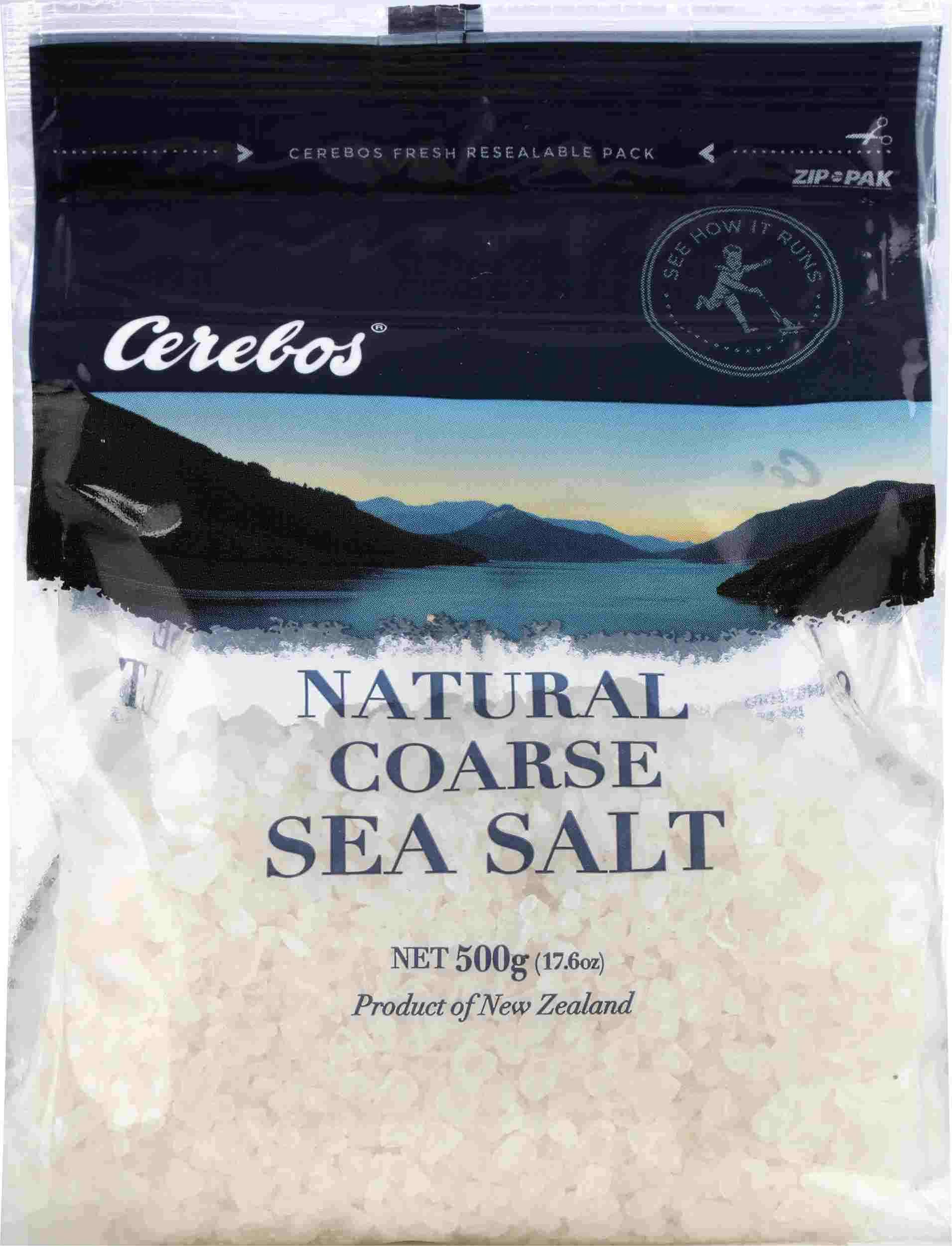 500g Cerebos Plain Coarse Sea Salt
